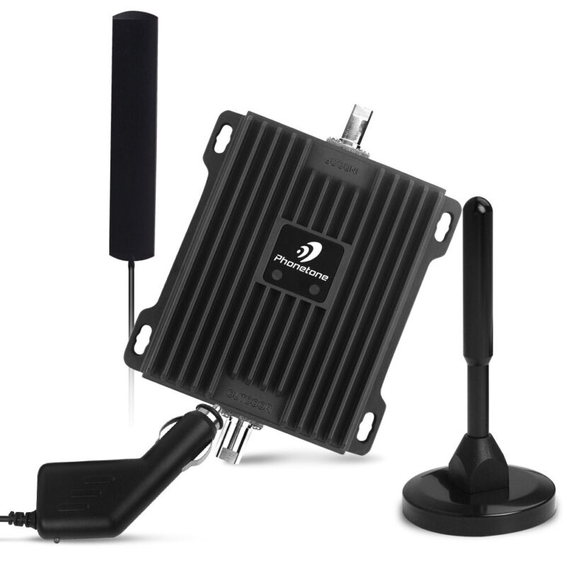 4G LTE Data 700MHz band 12/13/17 Cell Phone Signal Booster Kit For Car Truck