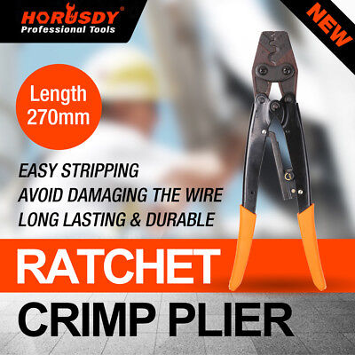 11 Crimp Ratchet Wire Terminals Crimper Crimping Pliers 1.25-16mm Tool Cable