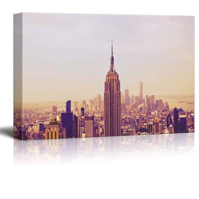 "Wall26 - Cityscape of New York City Skyline Gallery - CVS - 24"" x 36"