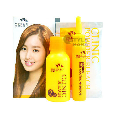 HAIR CLINIC POWDER BLEACH KIT Dye Colour Lightener Lightening highlights - Hair Lightener Kit