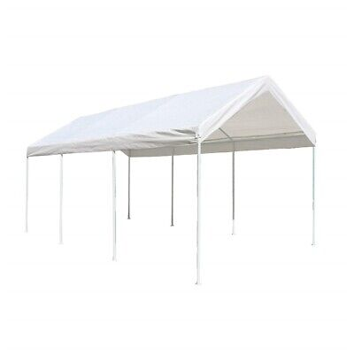ALEKO 10 X 20 Heavy Duty Steel Frame Carport, Polyethylene Party Tent in White for sale  Shipping to South Africa