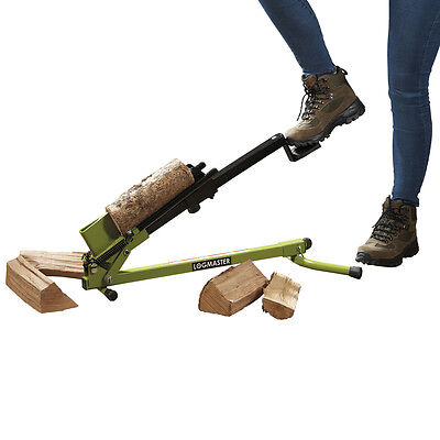 Logmaster Portable Foot Operated Log Splitter Manual 1.2 Tonne Wood Cutter