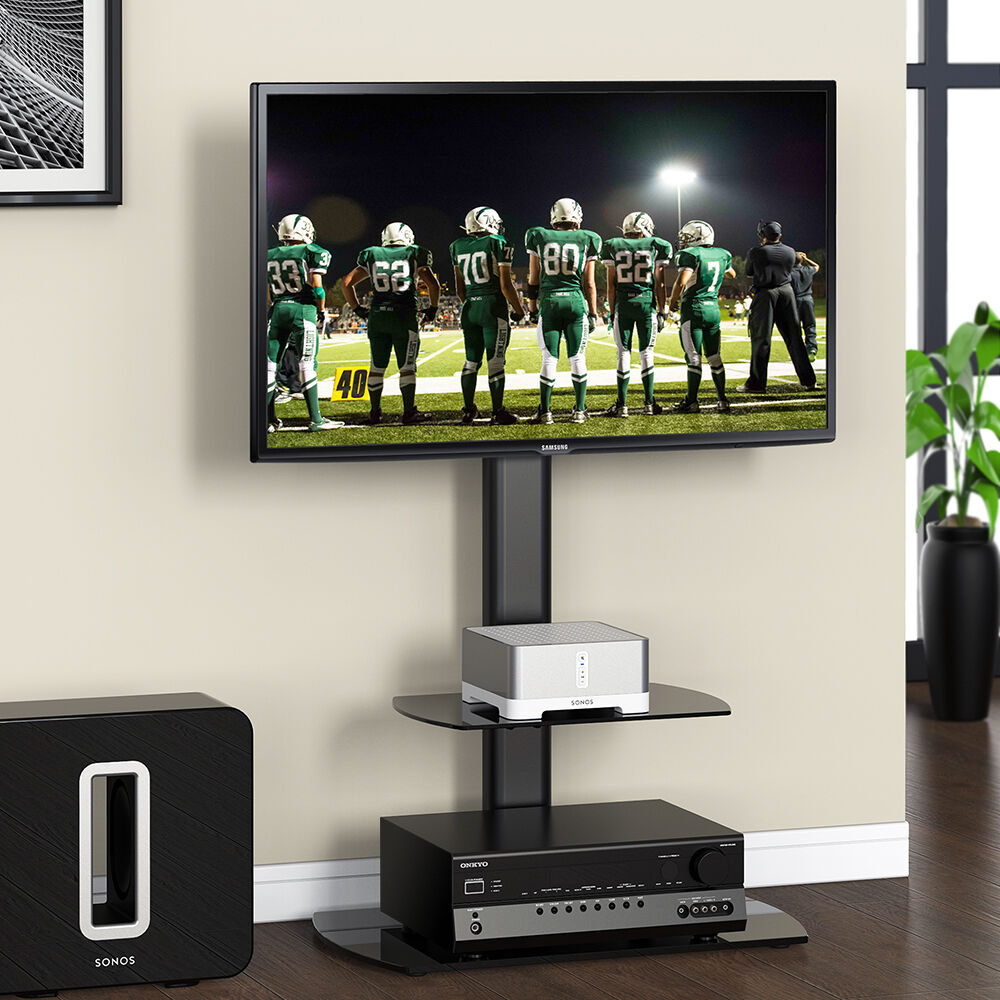 Fitueyes Flat Screen Lcd Tv Stand Shelves With Swivel Mount For 32-50 Lcd Tv