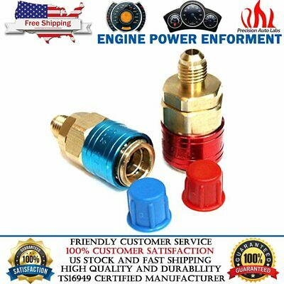2PCS R134A Quick Coupler Connector Adapter Auto A/C Manifold Gauge Low/High HVAC