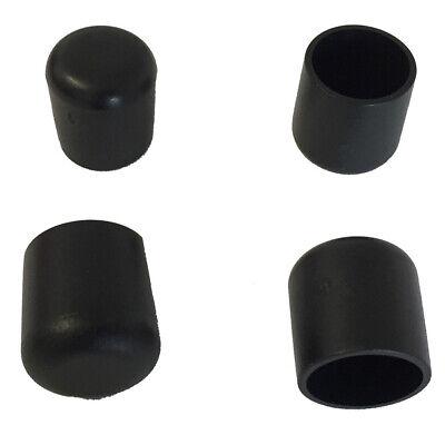 Fusskappe 15 mm für runde Rohre Schwarz Stapel- Gartenstuhl Schutzkappe Bank