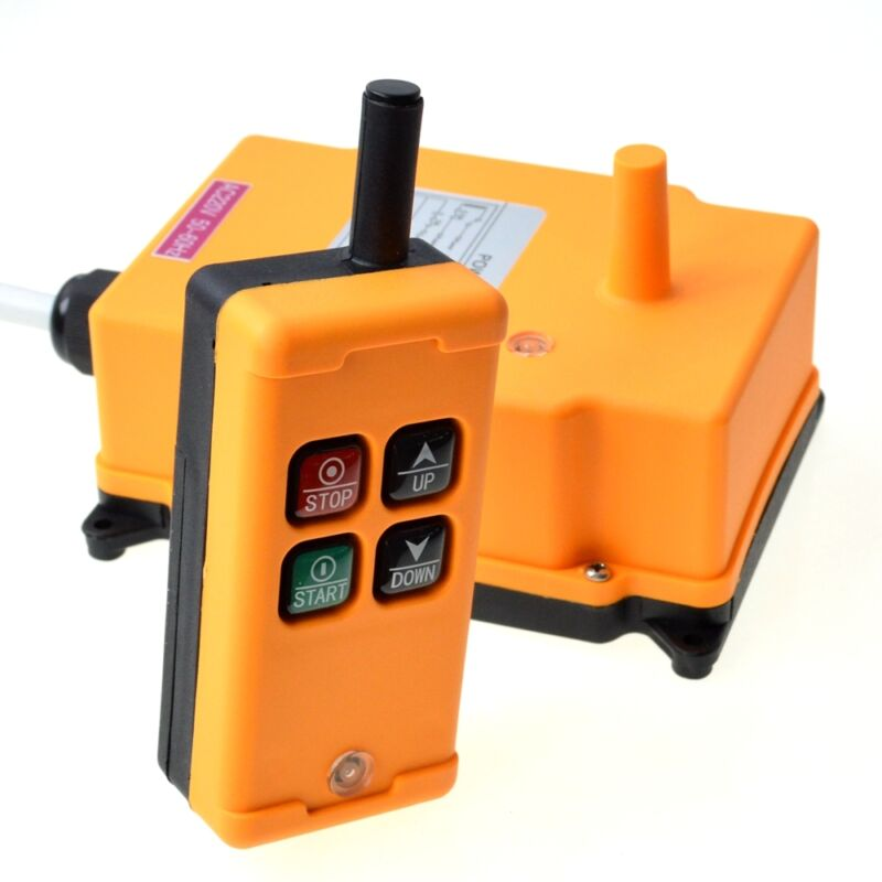 110VAC HS-4  1 Speed industrial wireless Crane Radio Remote Hoist Controller