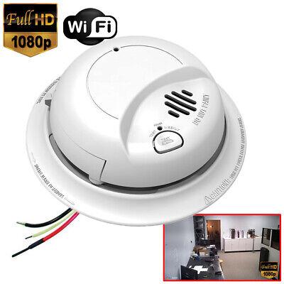 SecureGuard 1080P WiFi Smoke Detector Fire Alarm Wired Spy C