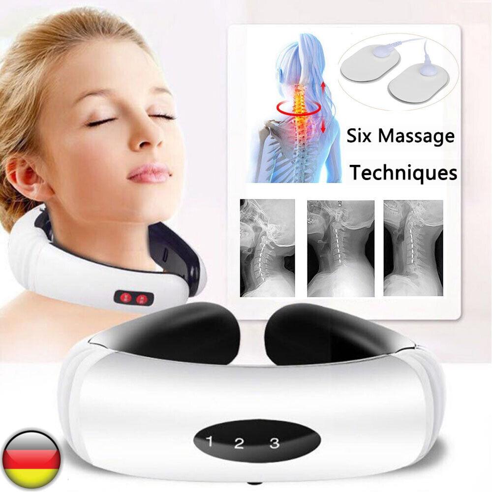Elektrisch Nackenmassagegerät Massage U-Neck Halswirbel Schulter Rücken Shiatsu