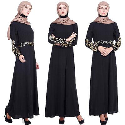 Abaya Women Muslim Long Maxi Dress Jilbab Ramadan Cocktail Party Islam Robe Gown
