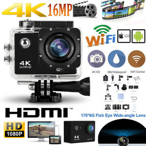 4K Ultra HD Waterproof Sports Camera 16MP WiFi SJ Video Camera Action Camcorder