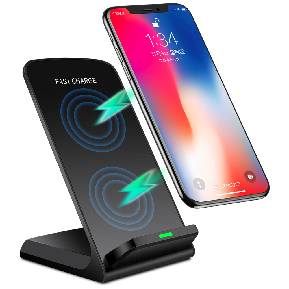 Universal Qi Wireless Charger Handyhalter Ladestation Induktions Ladegerät 10W