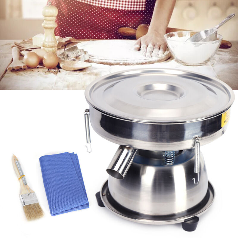 Electric Mechanical Sieve Shaker Vibrating Sifter Machine F/ Powder Particles US