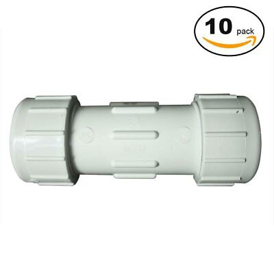 PrimeX 85326 2 Inch PVC Comp. Coupling - 10/Pack