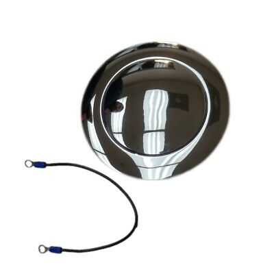 9 Hole Steering Wheel Chromed Billet Aluminum Smooth Horn Button Street Rod