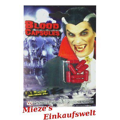 16 Blutkapseln Kunstblut Theater Blut Dracula Vampir Halloween Make Up Wunden
