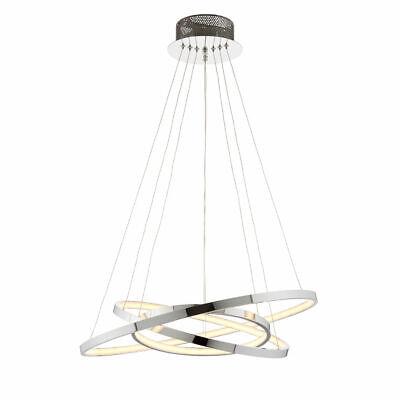 Impressive Modern Ring  3 Lights Chrome Finish Adjustable Ceiling Pendant LED