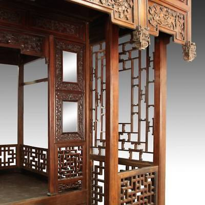 Купить RARE ANTIQUE CHINESE WEDDING BED CARVED ROSEWOOD MIRROR FURNITURE CHINA 19TH C.