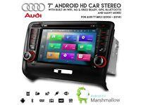 "7"" Android 6.0 Octa-Core 64bit 32GB 2G RAM HD Bluetooth WiFi 4G GPS Car DVD SD Stereo For Audi TT"