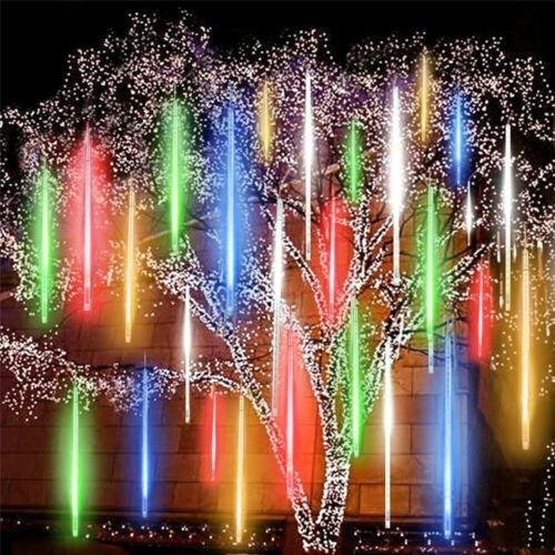 Solar Meteor Shower Lights Waterproof Light Tube String Garden Outdoor Decor US Home & Garden