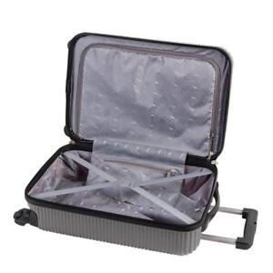 Atlantic Tribute II Hardside Spinner International Carry-On Luggage 20-Inch, Silver Condtion: Lightly used, Silver, C...