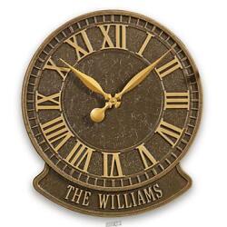 The Personalized Patio Clock (Geneva) Outdoor Roman Numerals