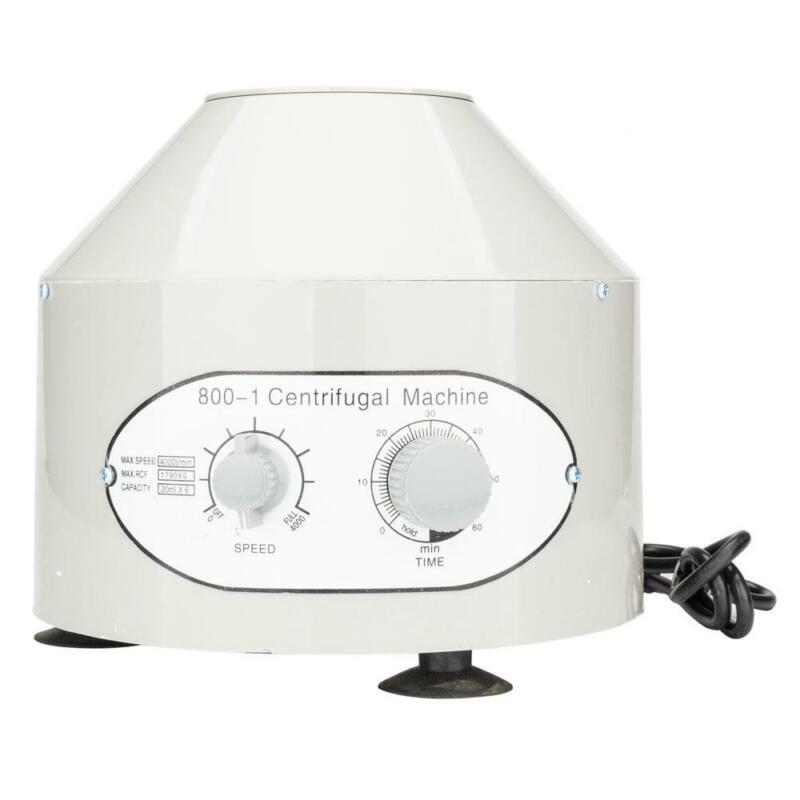 New Electric Centrifuge Machine Lab Medical Practice 4000rpm with 6x20ml Rotor