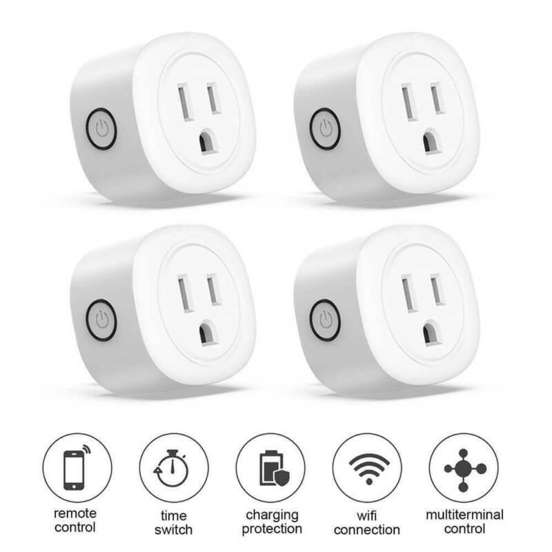 4 Pack Wifi Smart Plug Outlet Phone Remote Control Socket Timer Alexa Google US