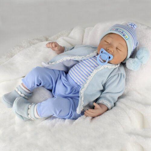Handmade Reborn Newborn Dolls 22inch Vinyl Silicone Baby Boy Doll Birthday Gifts