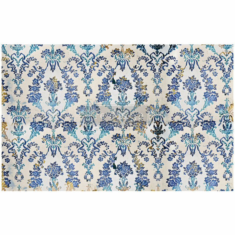 Cobalt Flourish decoupage paper by redesign with Prima!