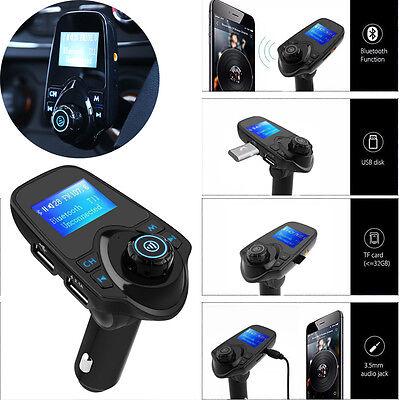 T11 Bluetooth Car Kit Auto Radio KFZ Adapter FM Transmitter Mp3 Player Dual USB