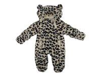 Baby Boy Girls Leopard Print Fluffy Snowsuit (3-6 Months) Brand New
