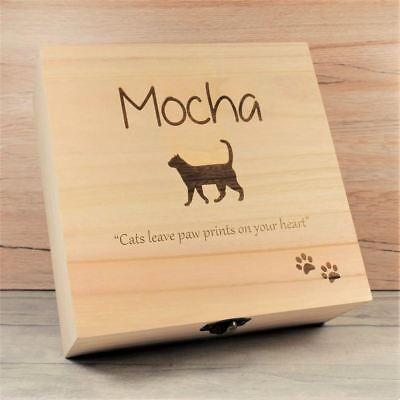 PERSONALIZZATO Lapide commemorativa animale domestico BOX Memory Box in legno