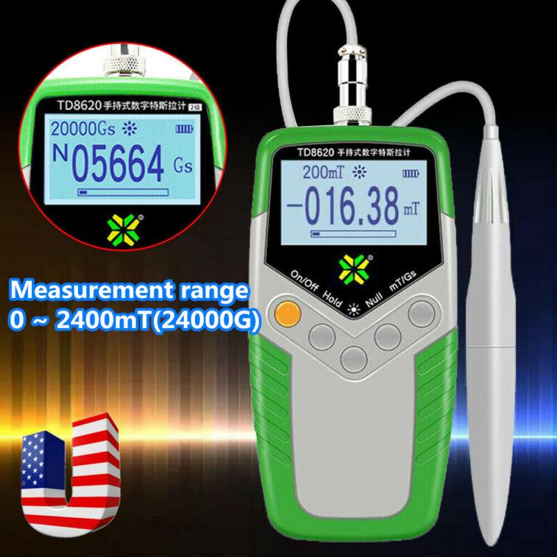 Digital Gauss Meter Surface Magnetic Field Tester Magnetic Flux Meter mT/Gs
