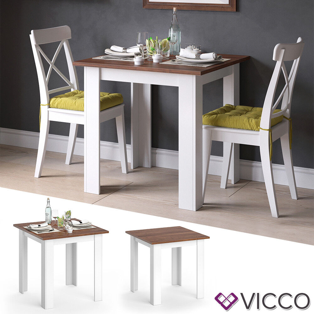 Living Room With Dining Table: Vicco Dining Table Karlos Dining Room 80cm White Walnut