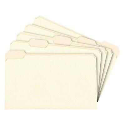 Staples Manila File Folders Legal 5 Tab Assorted Position 100box 163378