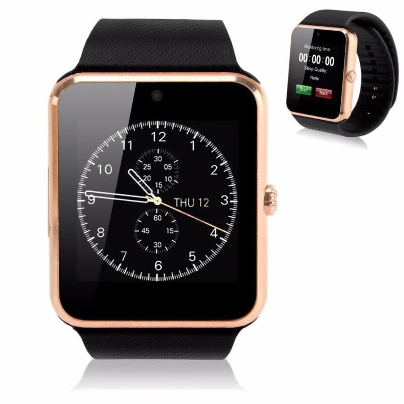 GOLD Bluetooth Smart Watch & Phone with Camera For Iphone Samsung LG Sony HTC