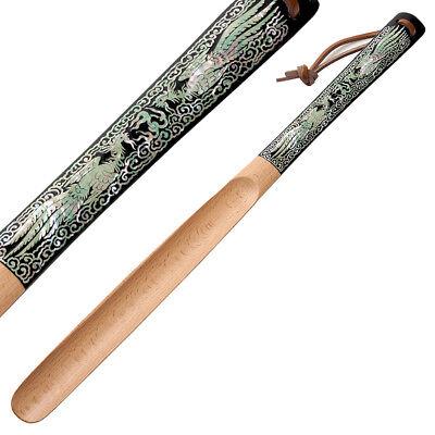 Holz Schuhloeffel Elegant Handarbeit Perlmutt Design Korea Neu