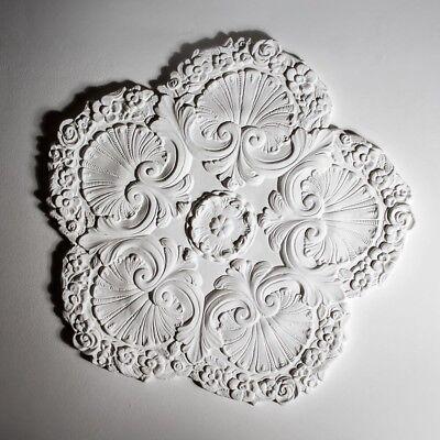 Plaster Ceiling Rose Grand Victorian Design Hand Made 650mm | 25.5inch Diameter