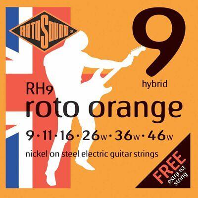 Set of Rotosound RH9 Hybrid Orange Electric Guitar Strings (09-46)