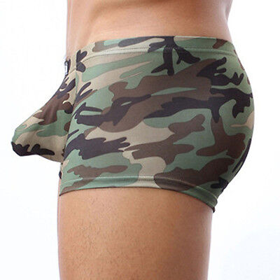 Military Men's Camouflage Boxer Briefs Trunks Underwear Underpant Boxer Briefs