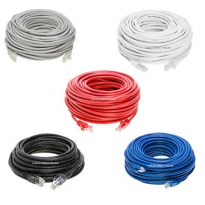 CAT5e Patch Cable Black Gray White Blue Ethernet 3ft 6ft 10ft 20ft 30ft 50ft - Cat5 5e Ethernet Patch Cable