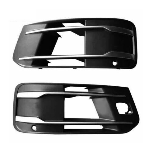 1pair Right+Left Front Bumper Fog Light Chrome Grille Fit For Audi Q7 S-Line