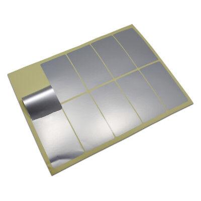 A4 Pet Matte Silver Sticker Label Blank Printable Self Adhesive Laser Printer