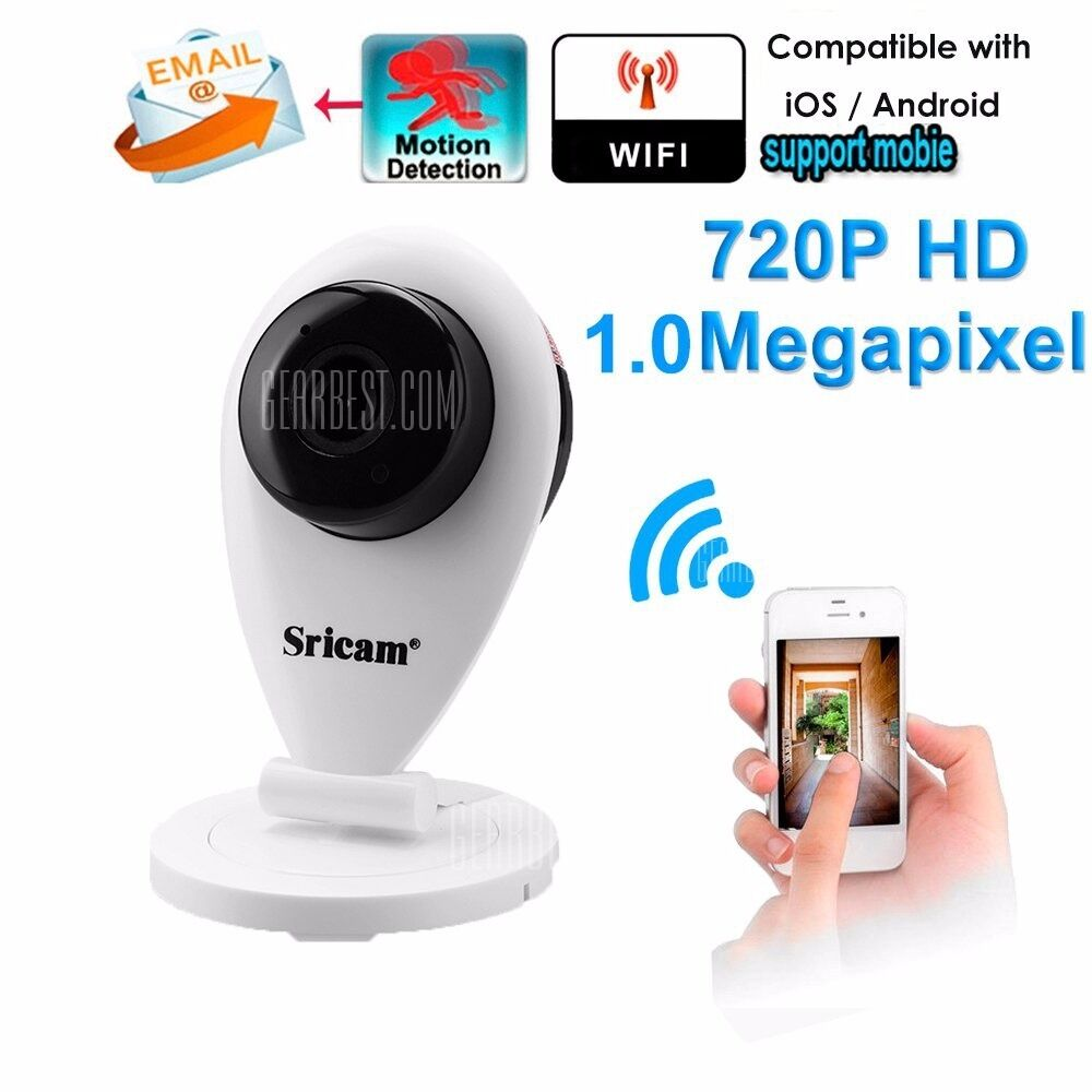 Sricam 720P H.264 Wifi IP Camera Wireless ONVIF CCTV Security camera(footage can be viewed via app!
