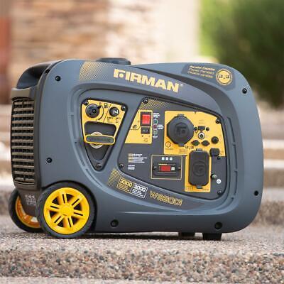 Firman 3300-watt Quiet Portable Gas Powered Inverter Generator Home Rv Camping