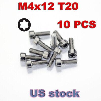 10x M4 X 12mm Machine Screws Torx T20 Socket Head Stainless Steel