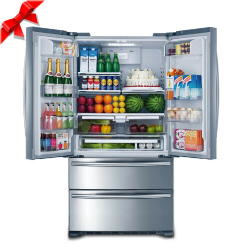 """SMAD Kitchen 36"""" French Doors Refrigerator Fridge Ice Maker Stainless Steel LED"""