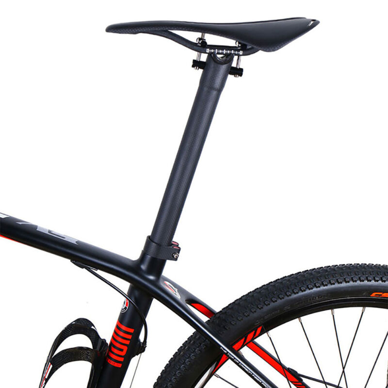 Carbon Fixed Bicycle Saddle Gear MTB Road Ricing Bike Seat Oval ...