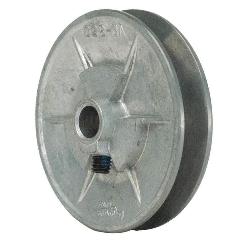 "V-Belt Pulley,5/8""VrPitch,3.5""OD,Iron 110308"