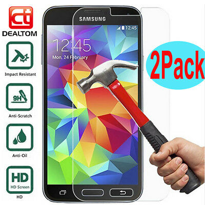 2Pcs Tempered Glass Screen Protector For Samsung S5 S6 S7 J3 J5 J7 Pro A3 A5 A8